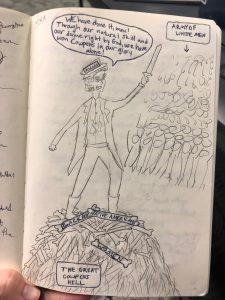 political cartoon image of Battle of Cowpens
